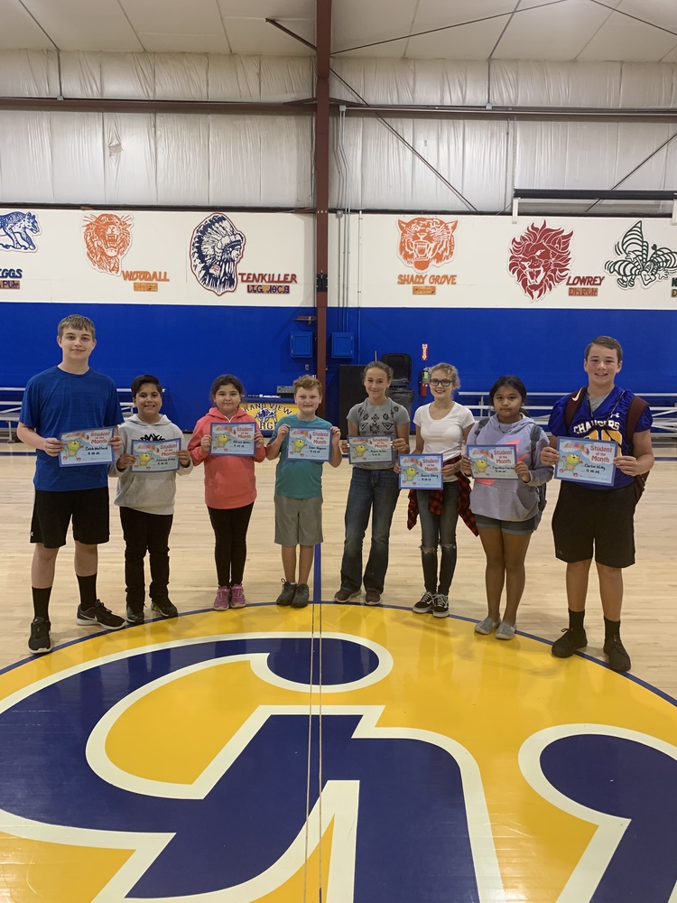 Middle School August Students of the Month