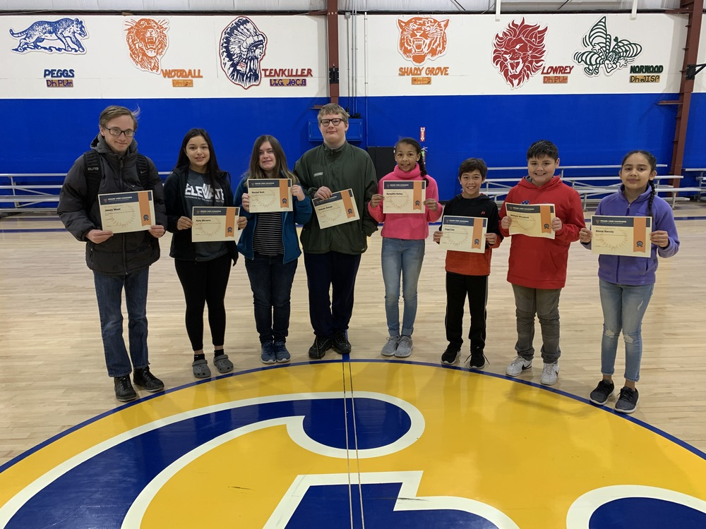 November Middle School Students of the Month