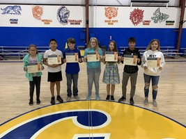 Middle School September Students of the Month