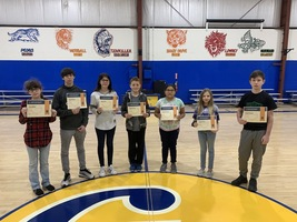 Middle School December Students of the Month