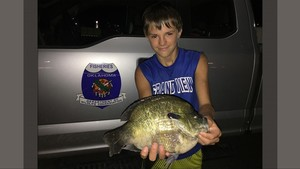 Boy catches bluegill in Tahlequah pond and almost beats a 33-year record